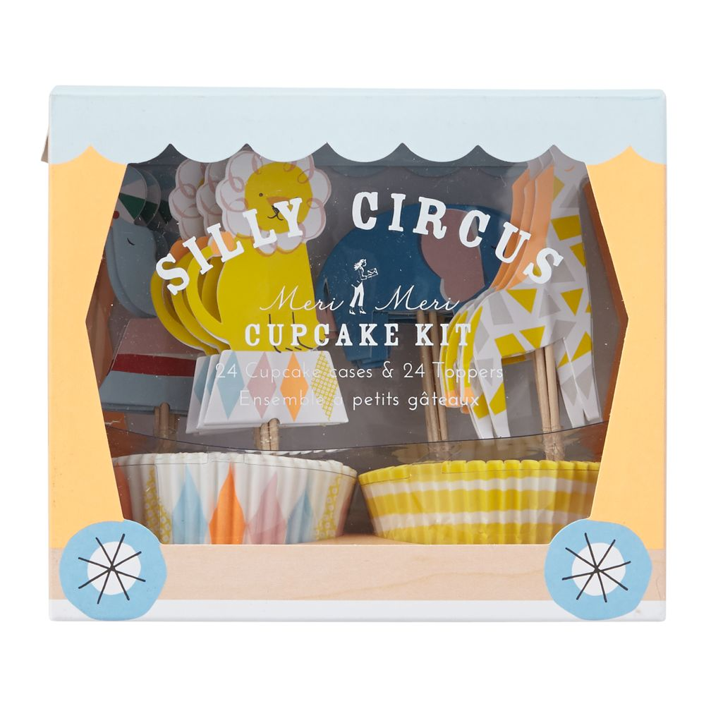 Silly Circus Cupcake Kit (Set of 24)