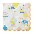 Set of 20 Silly Circus Party Napkins.