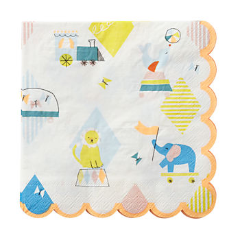 Silly Circus Party Napkins (Set of 20)