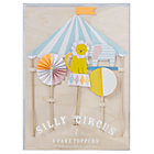 Set of 4 Silly Circus Cake Toppers.