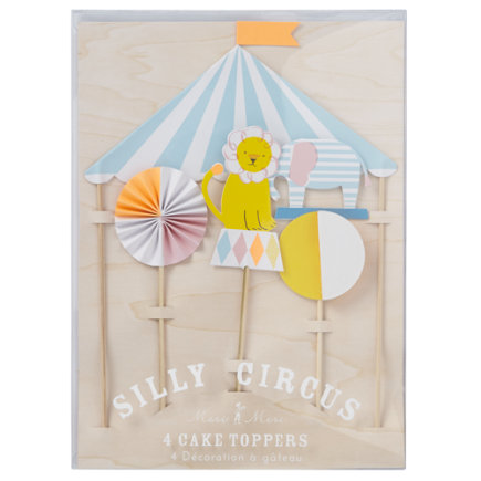 Silly Circus Cake Toppers (Set of 4) - Set of 4 Silly Circus Cake Toppers