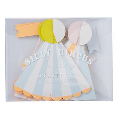 Silly Circus Party Hats (Set of 8)
