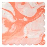 Coral Marble Large Napkins (Set of 20)