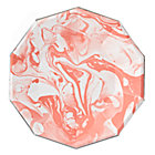 Set of 8 Coral Marble Plates (Large)