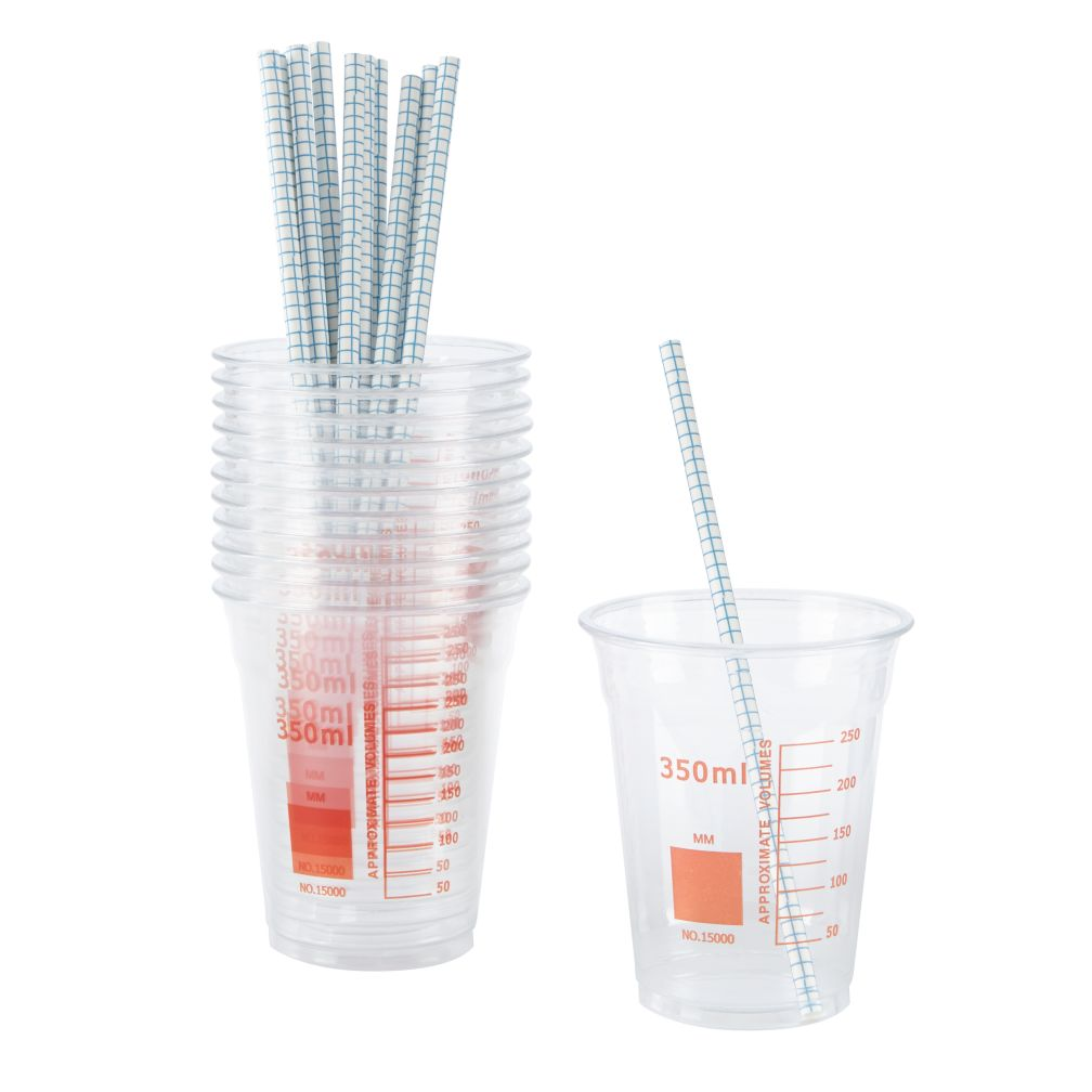 Fundamental Party Cups & Straws (Set of 12)