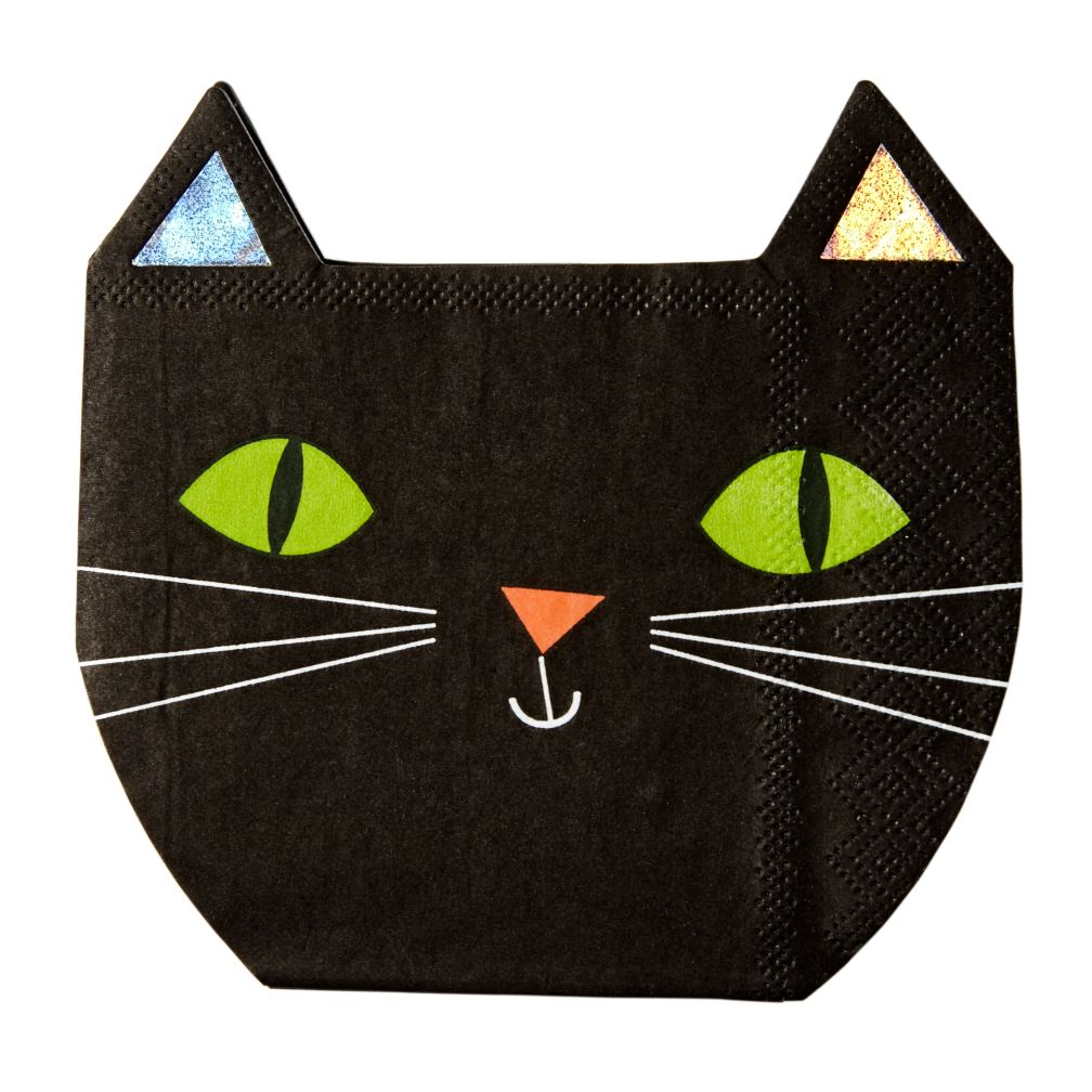 Halloween Cat Napkins (Set of 16)