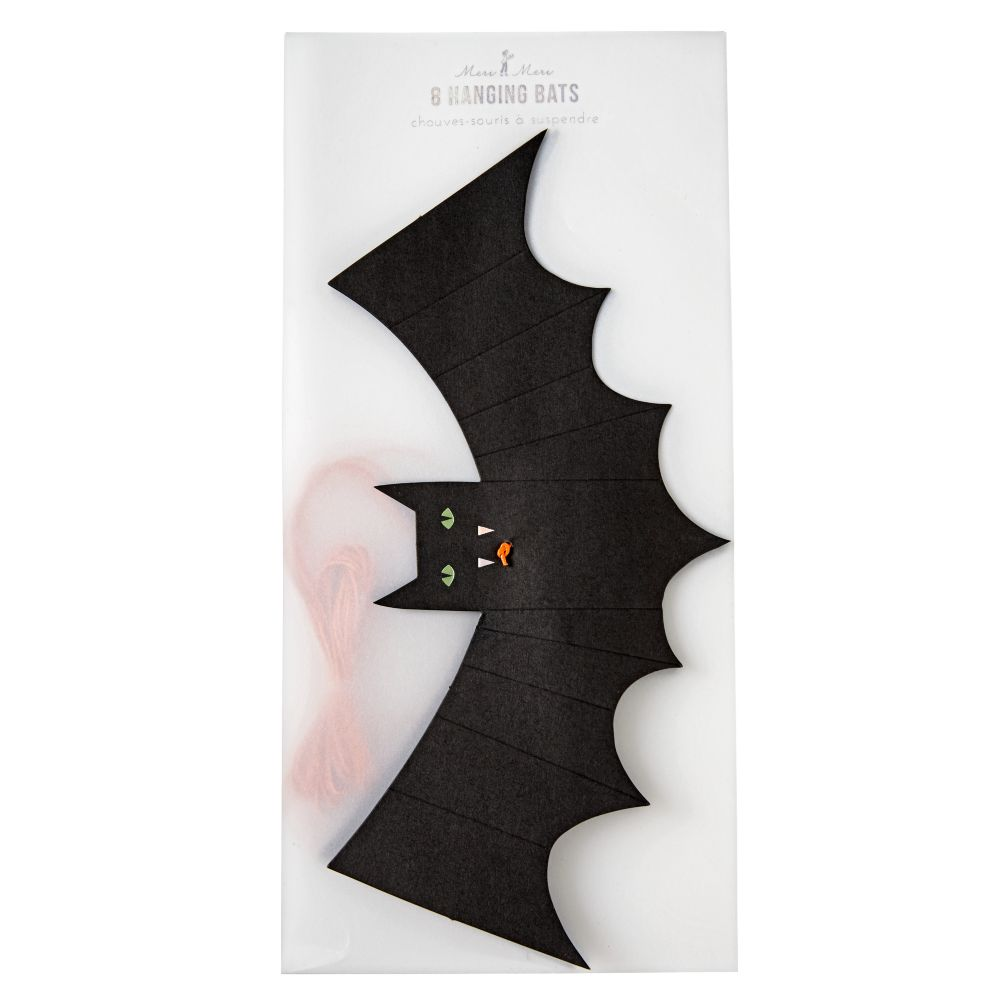 Halloween Hanging Bats (Set of 8)