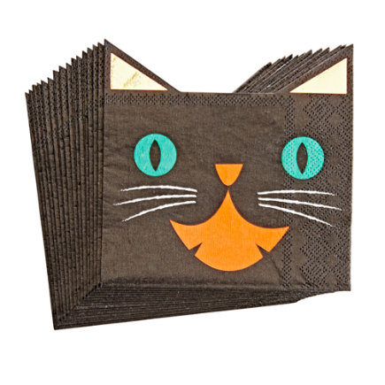 - Halloween Cat Party Napkins Set/16