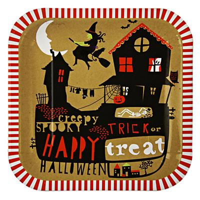 Halloween Party Plates (Set of 12)