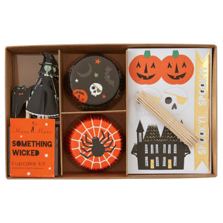 Kids Halloween Themed Cupcake Kit - Set of 24 Halloween Party Cupcake Kit