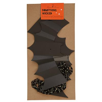 Halloween Party Bat Decorations (Set of 8)
