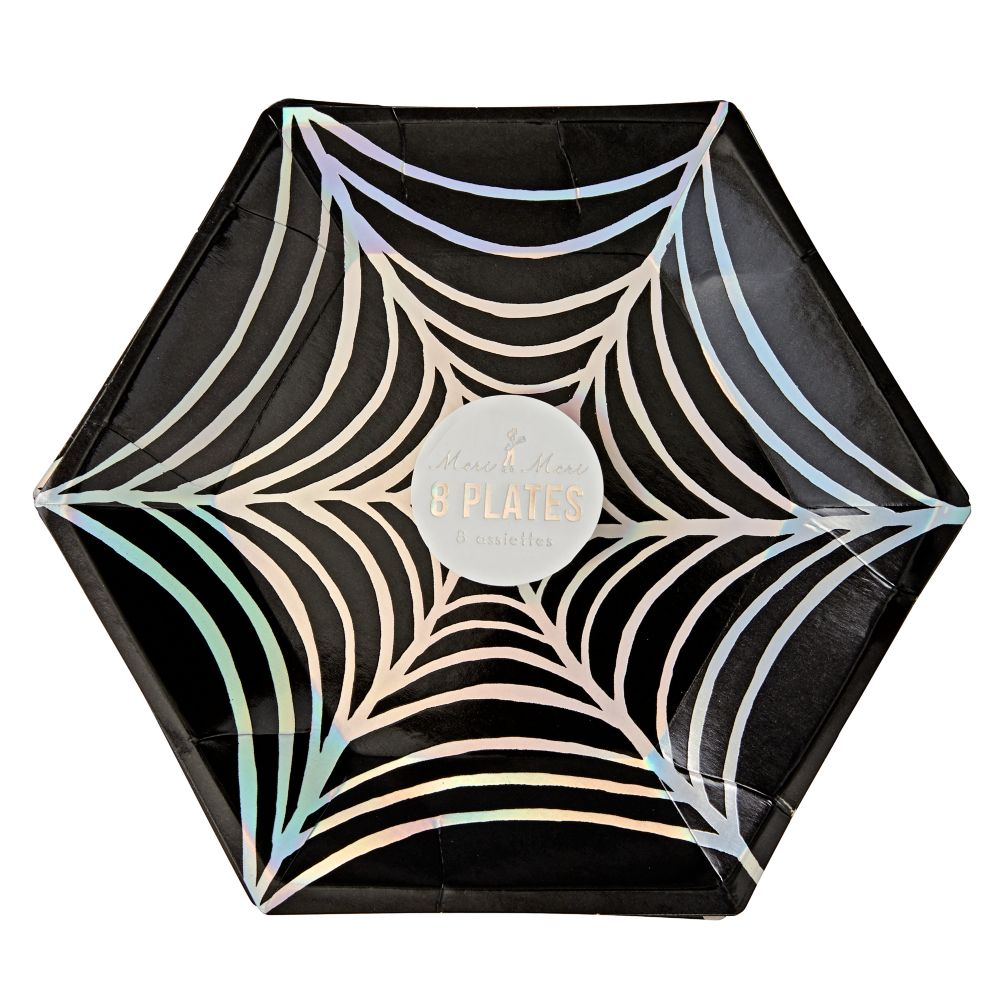 Halloween Spider Plates (Set of 8)