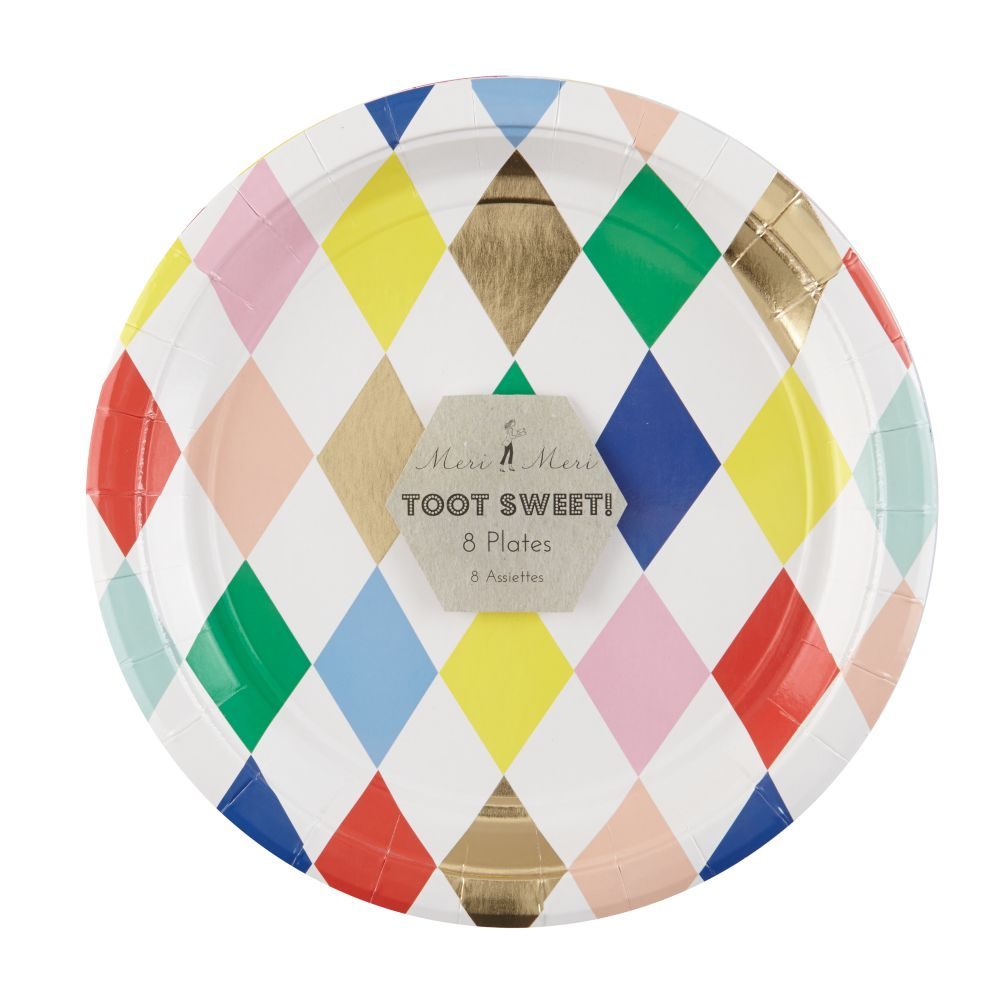 Toot Sweet Harlequin Plates (Set of 8)