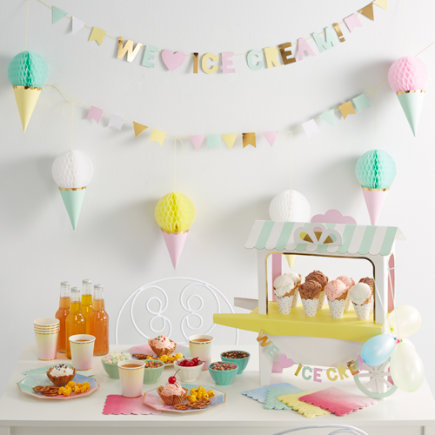 Ice Cream Party Collection - Ice Cream Cart Party Centerpiece