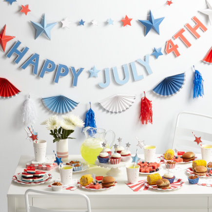 4th of July Party Collection - Set of 8 4th of July Party Plates