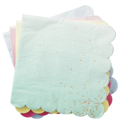 Ombre Party Napkins (Set of 16) - Set of 16 Ombre Party Napkins