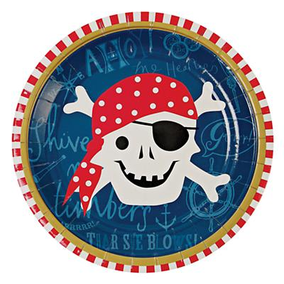Ahoy Pirate Party Plates (Set of 12)