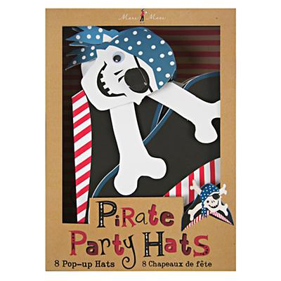 Ahoy Pirate Party Hats (Set of 8)