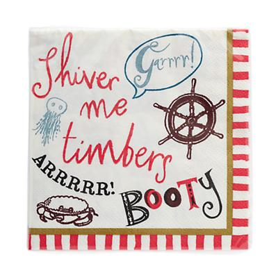Ahoy Pirate Party Napkins (Set of 20)