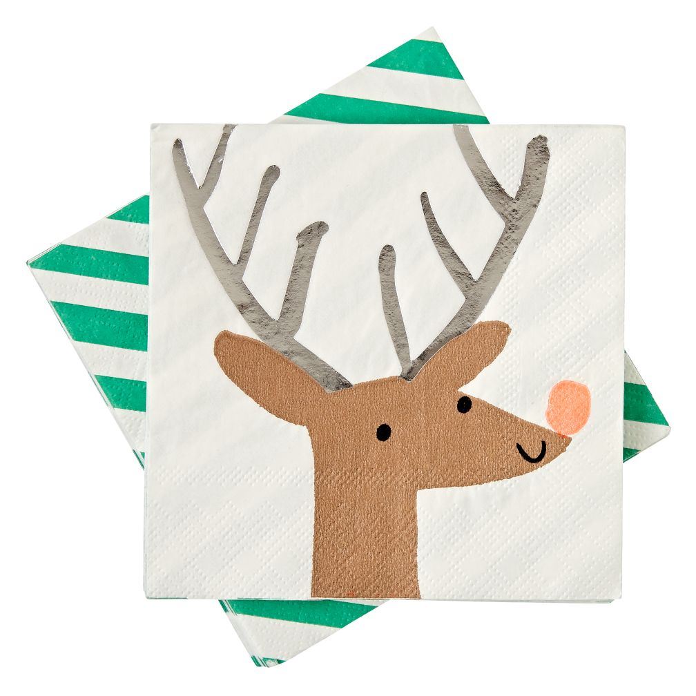 Small Reindeer Napkins