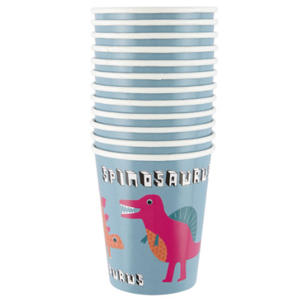 Dinosaur Party CupsSet of 12