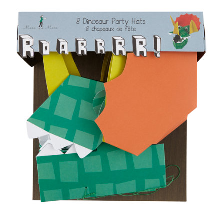 Dinosaur Party HatsSet of 8