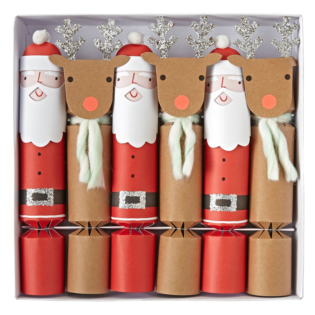 Santa and Reindeer Crackers (Set of 6)
