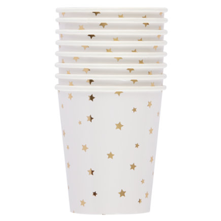 Gold Star Party CupsSet of 8