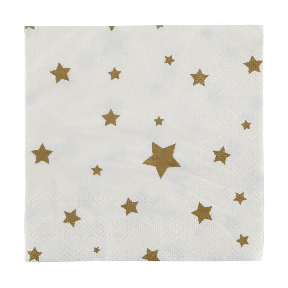 Toot Sweet Gold Star Party Napkins