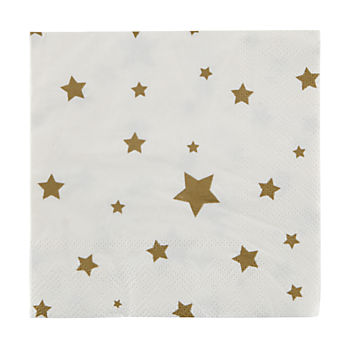 Toot Sweet Gold Star Napkins (Set of 16)