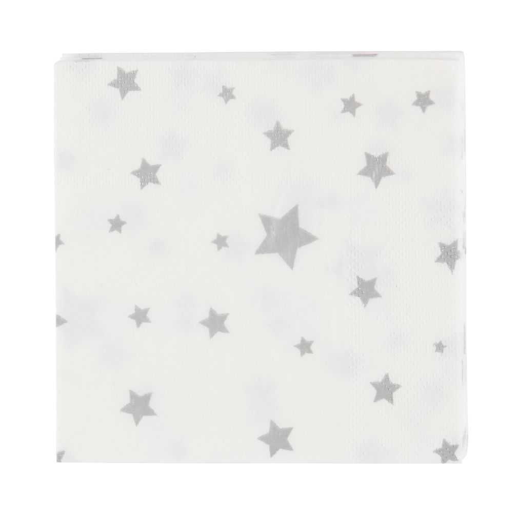 Toot Sweet Silver Star Party Napkins