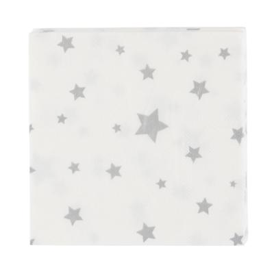 Toot Sweet Silver Star Napkins (Set of 16)