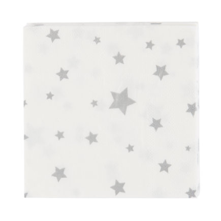 Silver Star Party NapkinsSet of 16