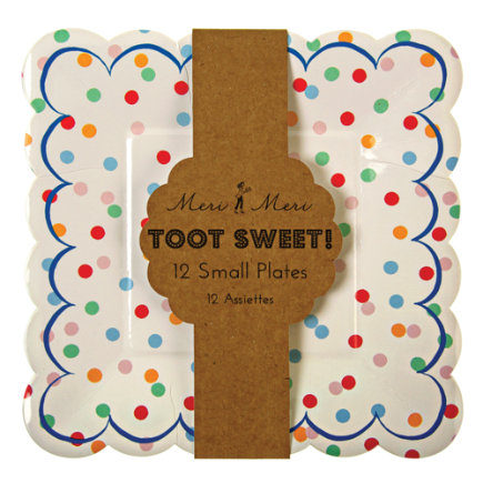 Toot Sweet Square Party PlatesSet of 12