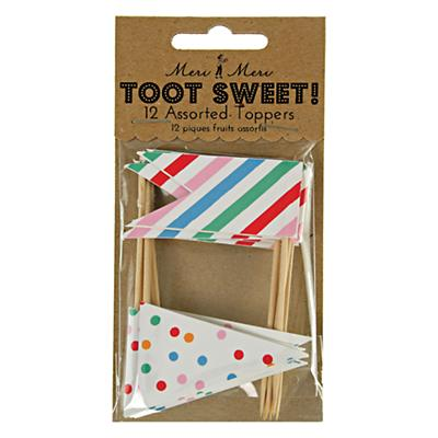 Toot Sweet Food Toppers (Set of 12)