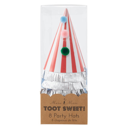 Toot Sweet Party HatsSet of 8
