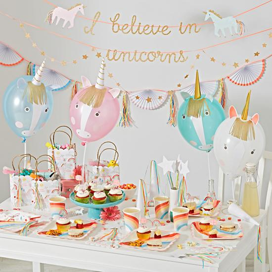 unicorn party collection the land of nod. Black Bedroom Furniture Sets. Home Design Ideas