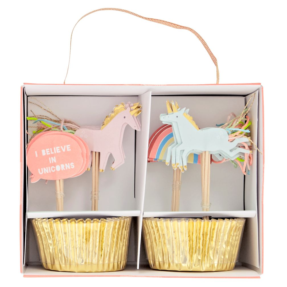 Unicorn Cupcake Kit Set Of 24 The Land Of Nod