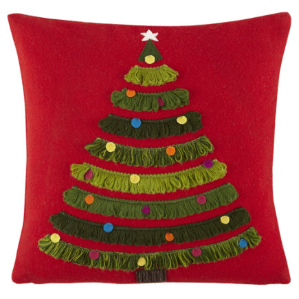 Kids Throw Pillows: Christmas Tree Throw Pillow - Trim the Tree Pillow Set