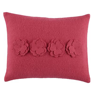 Bedding Bouquet Throw Pillow (Pink)