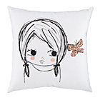 Butterfly Girl Filled Throw Pillow