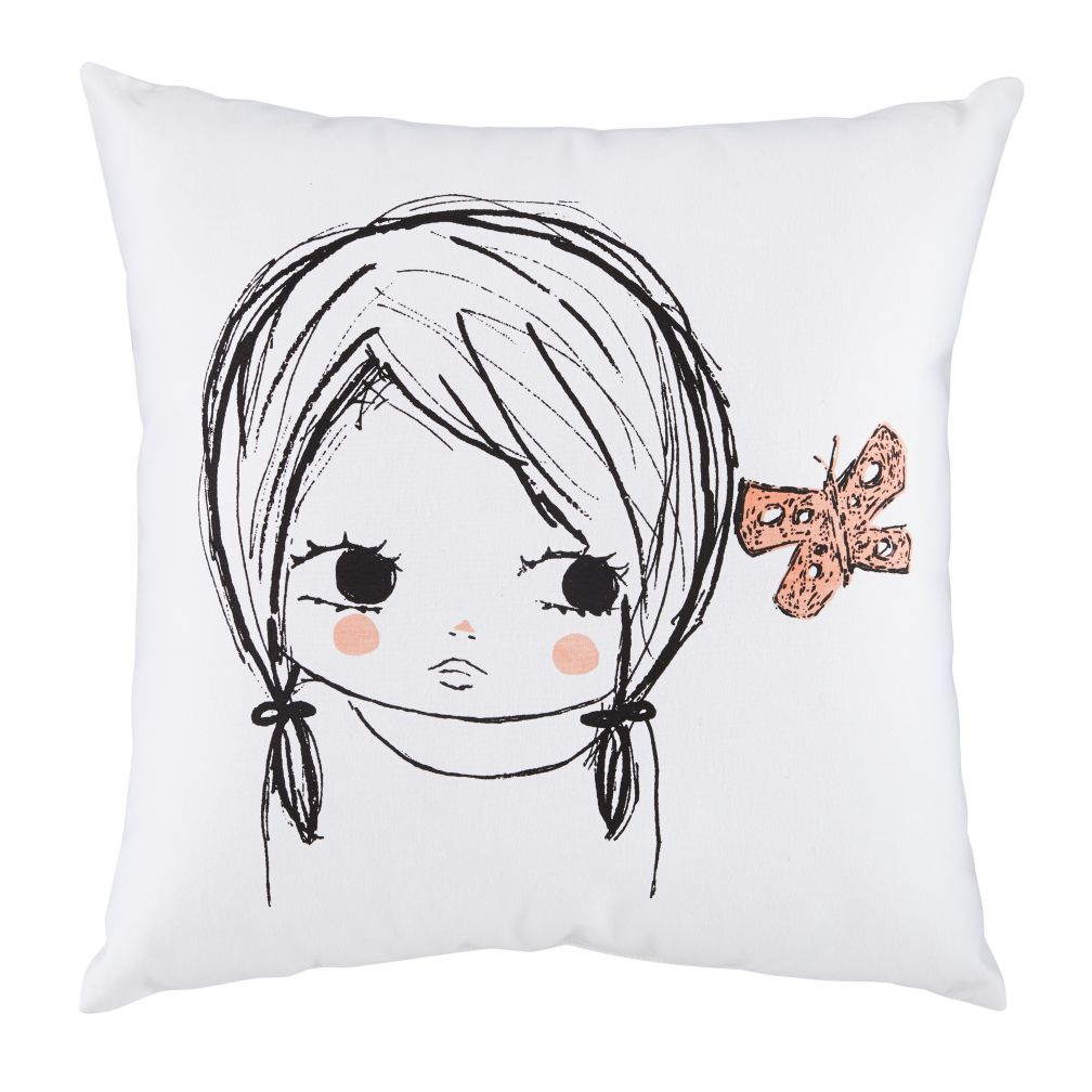 Butterfly Girl Pillow