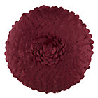 Ruffled Petal Throw Pillow Cover