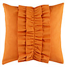 Dk. Orange Ruffle Throw Pillow