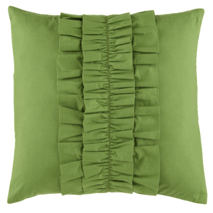 Kids Throw Pillows: Kids Green Ruffle Throw Pillow - Green Ruffle Throw Pillow