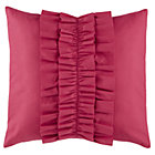 Hot Pink Ruffle Throw Pillow
