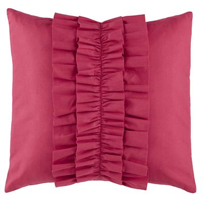 Ruffle Throw Pillow (Hot Pink)