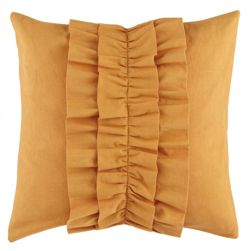 Ruffle Throw Pillow (Lt. Orange)