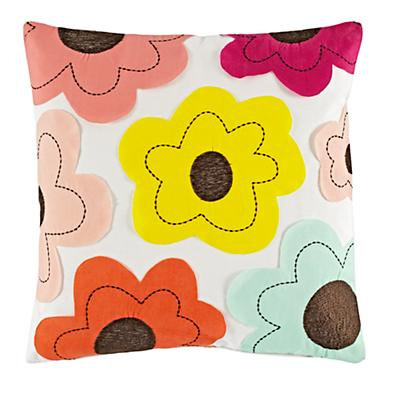 Flower Field Throw Pillow Cover