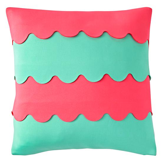 Blue And Pink Decorative Pillows : Pink And Blue Throw Pillow The Land of Nod